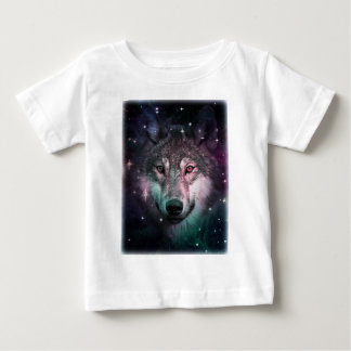 Space Wars Wolf Face Animal Design Baby T-Shirt