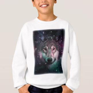 Space Wars Wolf Face Animal Design Sweatshirt