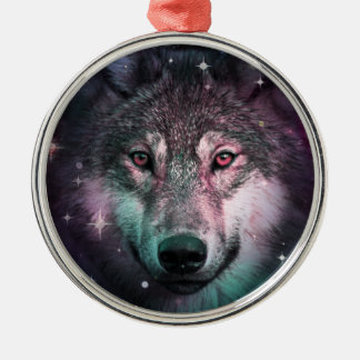 Space Wars Wolf Face Christmas Ornament