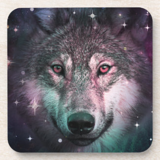 Space Wars Wolf Face Coaster
