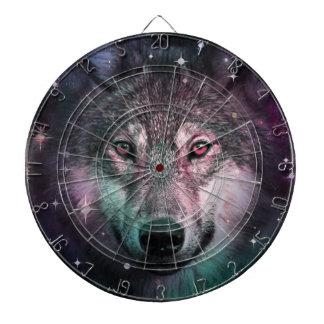 Space Wars Wolf Face Dartboard