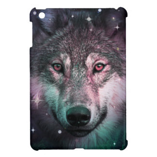 Space Wars Wolf Face iPad Mini Covers