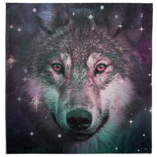 Space Wars Wolf Face Napkin
