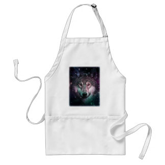 Space Wars Wolf Face Standard Apron