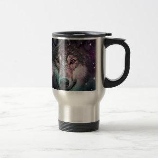 Space Wars Wolf Face Travel Mug