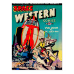 Space Western Comics Post Card