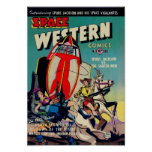 'Space Western' from Golden Age Comic Art Poster