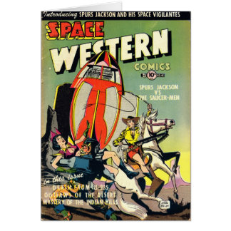 Space Western Note Card