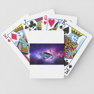 space whale bicycle playing cards