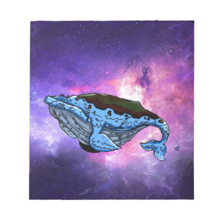 space whale notepad