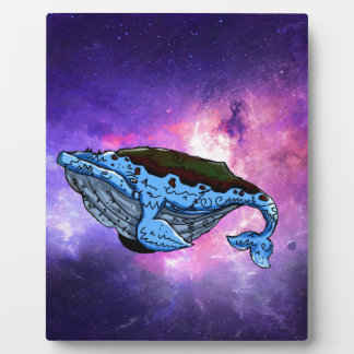 space whale plaque