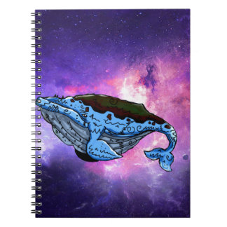 space whale spiral notebook