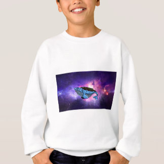 space whale sweatshirt