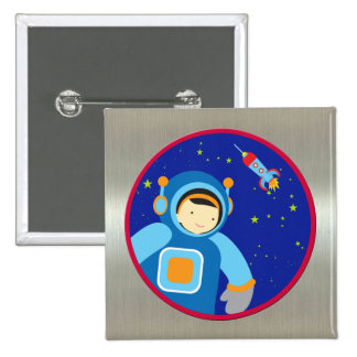 Spaceboy Floating Outside the Spaceship Pins