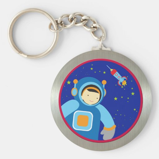 Spaceboy Floating Outside the Spaceship Keychain