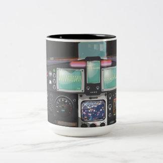 Spacecraft Console Two-Tone Mug