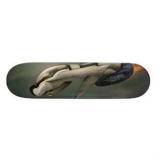 Spacecraft flying through a planet skate board decks