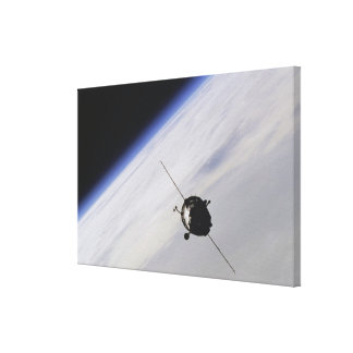 Spacecraft in outer space stretched canvas print
