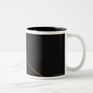 Spacecraft in Space Two-Tone Coffee Mug