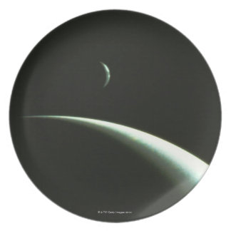 Spacecraft Over Neptune Plate
