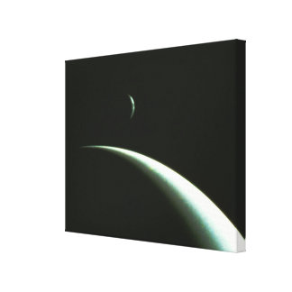 Spacecraft Over Neptune Stretched Canvas Prints