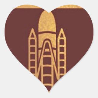 SPACECRAFT space craft Heart Sticker