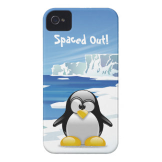 Spaced Out Penguin iPhone 4 Case-Mate Cases