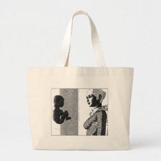 spacegirl and  baby jumbo tote bag
