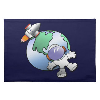 Spaceman and Planet Earth Placemat
