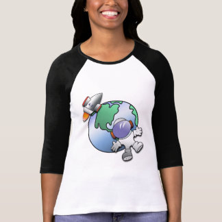 Spaceman and Planet Earth T-shirts