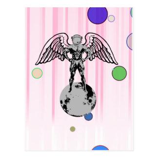 spaceman angel bodybuilder postcards