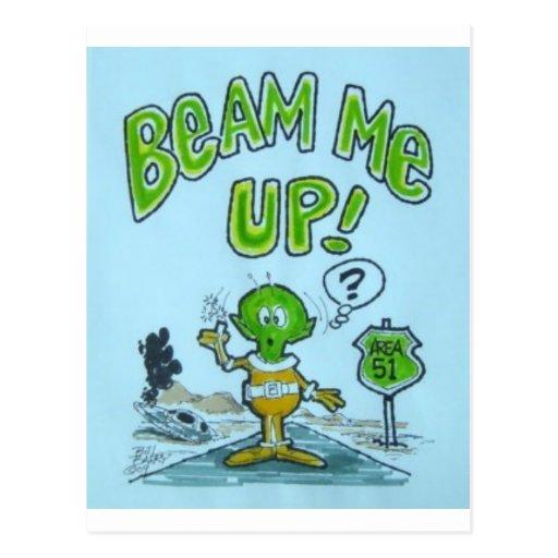 "Spaceman ""Beam Me up!"" Postcard"