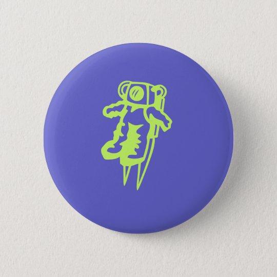Spaceman button. 6 cm round badge