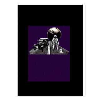 Spaceman Hitch-Hiker Postcard