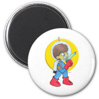 Spaceman Mad 6 Cm Round Magnet