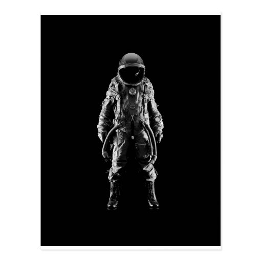 spaceman outer space postcards