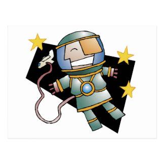 Spaceman Postcard