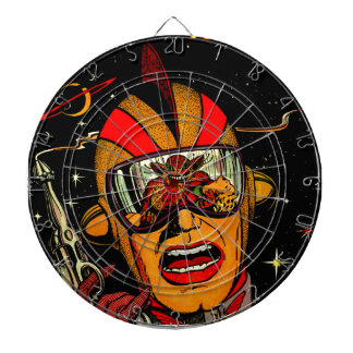 Spaceman Sci-Fi Astronaut Comic Art Dartboard
