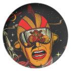 Spaceman Sci-Fi Astronaut Comic Art Plate