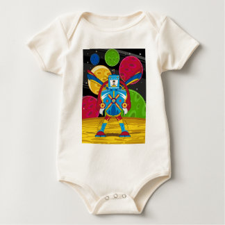 Spacemen In Giant Mecha Robot Baby Bodysuit