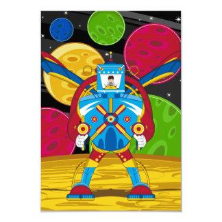 Spacemen In Giant Mecha Robot Card