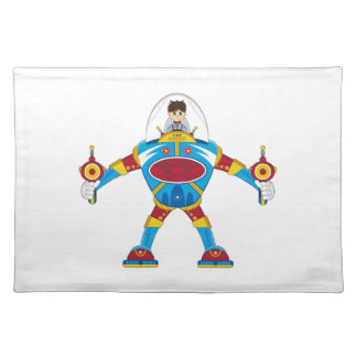 Spacemen In Giant Mecha Robot Placemat