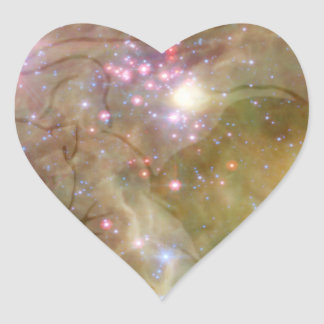 SpacePanther Heart Sticker
