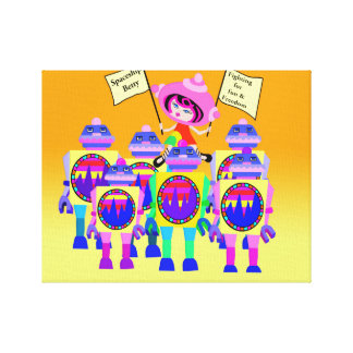 Spaceship Betty  March of the Robots Canvas Print