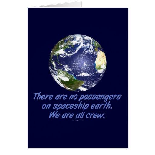 Spaceship Earth, Environment Greeting Card
