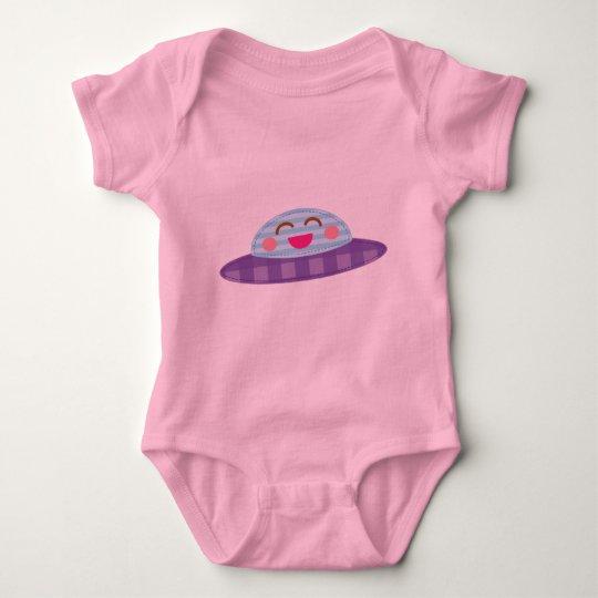 Spaceship Flying Saucer Kawaii Baby Bodysuit