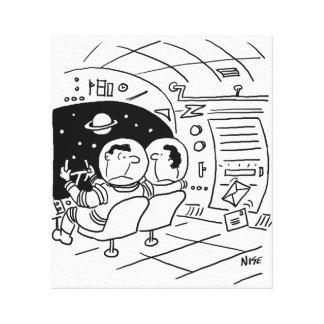 Spaceship Has Letters Delivered Print
