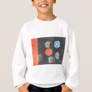 Spaceship Hollow Earth Art Sweatshirt