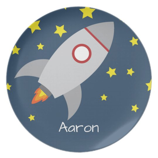 Spaceship Plate - Personalised with Name
