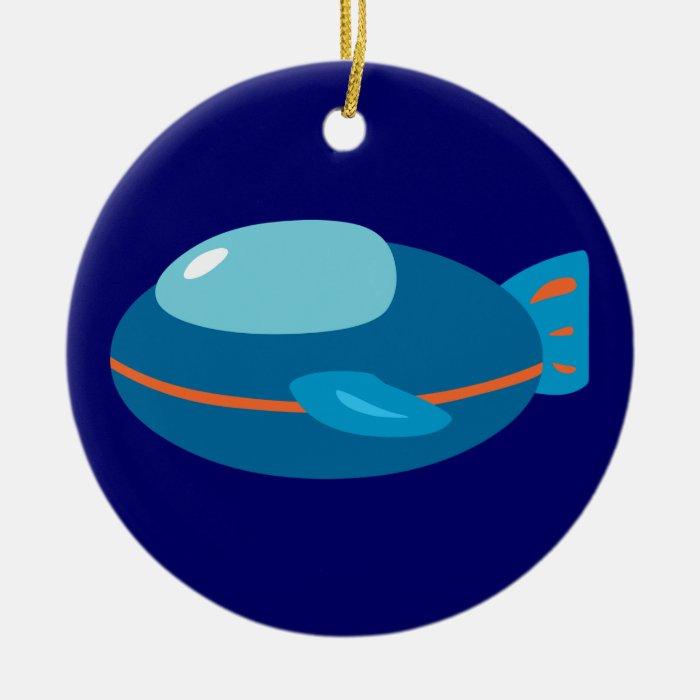 Spaceship Round Ceramic Decoration